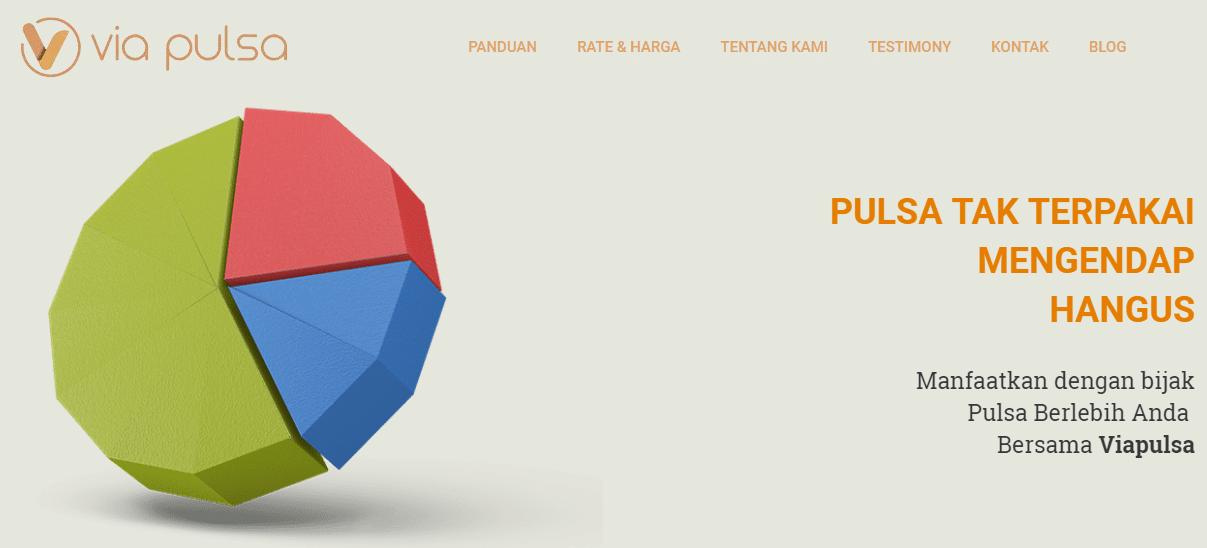 Tampilan Homepage Viapulsa