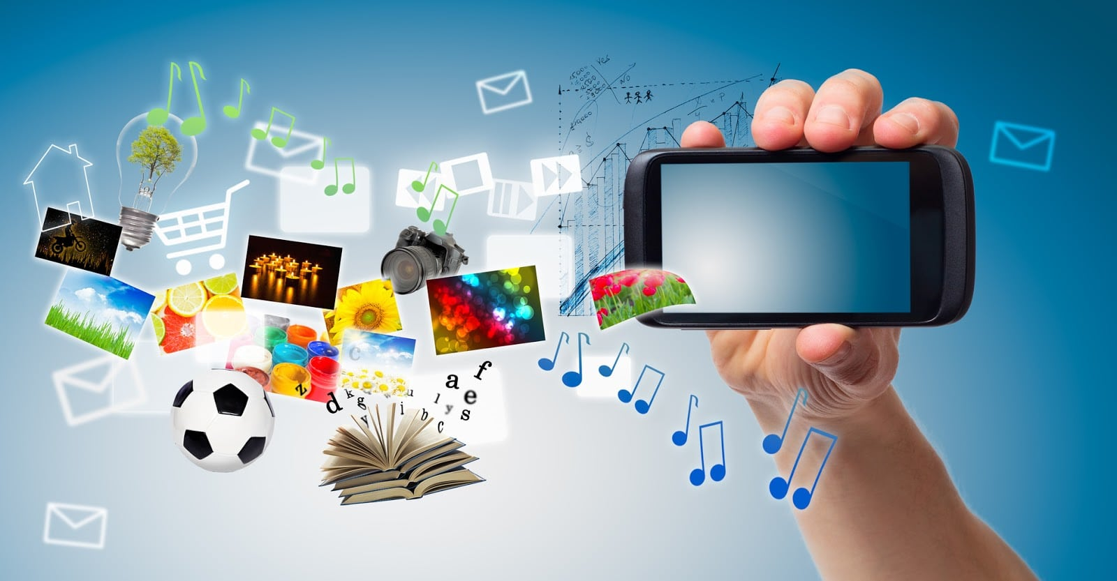 Ilustrasi Multimedia Phone