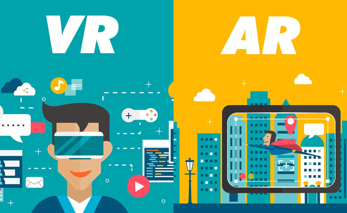 Ilustrasi Virtual Reality Dan Augmented Reality