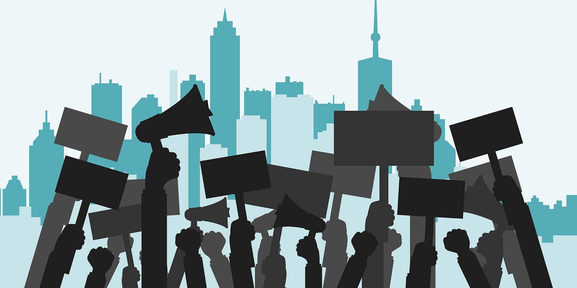 Ilustrasi Demo Masyarakat Kepada Pemerintah